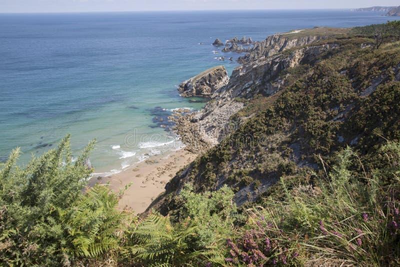 Carrostrand; Espasante; Galicië royalty-vrije stock foto's