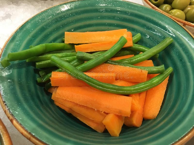 Carrot and beans stock images