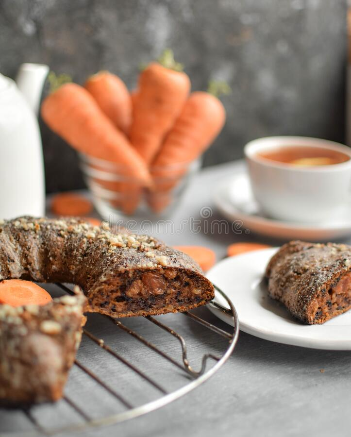 Carrot cake never goes out of fashion, and you know why? This wet, carrot-saturated muffin with nuts has a stunning taste, and in. A duet with cream, it exceeds stock photo