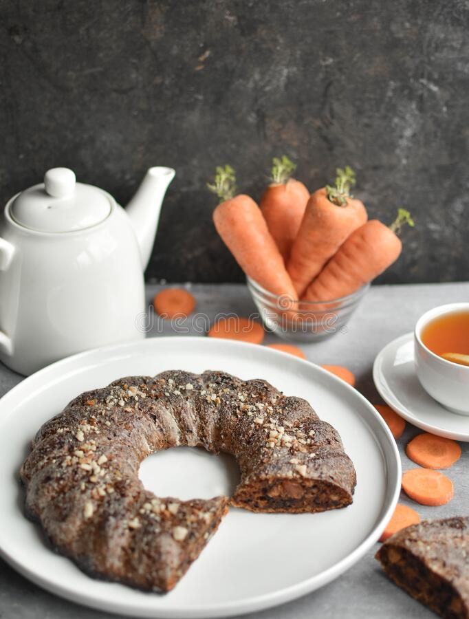 Carrot cake never goes out of fashion, and you know why? This wet, carrot-saturated muffin with nuts has a stunning taste, and in. A duet with cream, it exceeds stock image