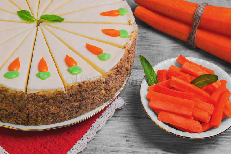 Carrot cake pie stock photos