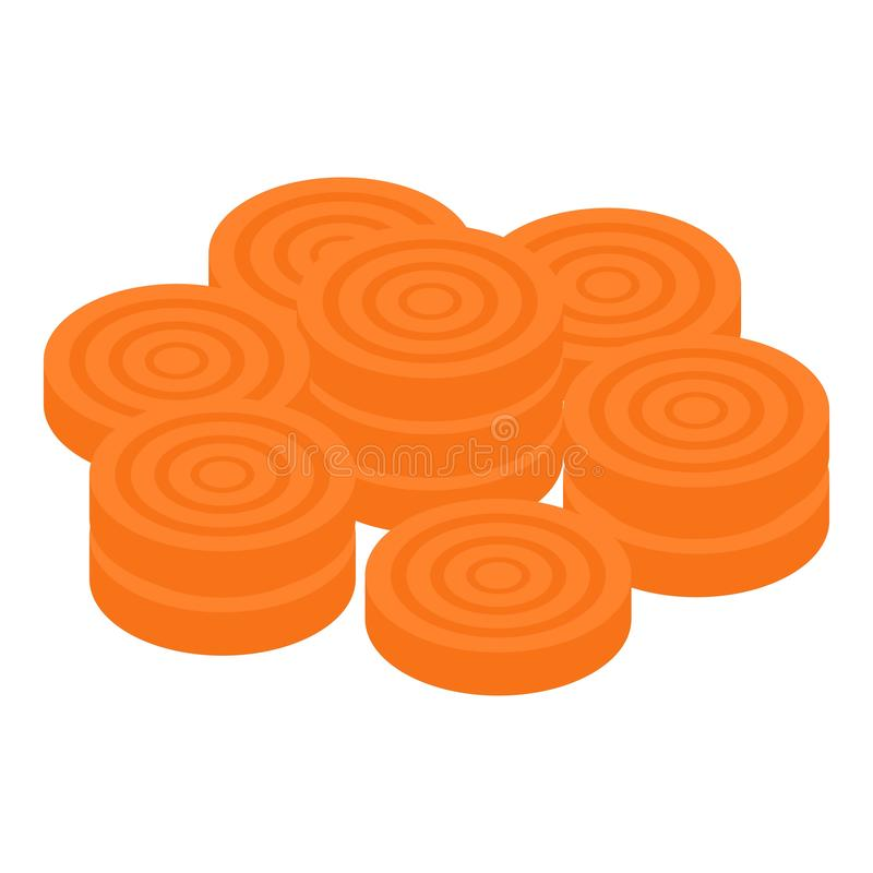 Free Carrot Circle Slices Icon, Isometric Style Royalty Free Stock Images - 160698969