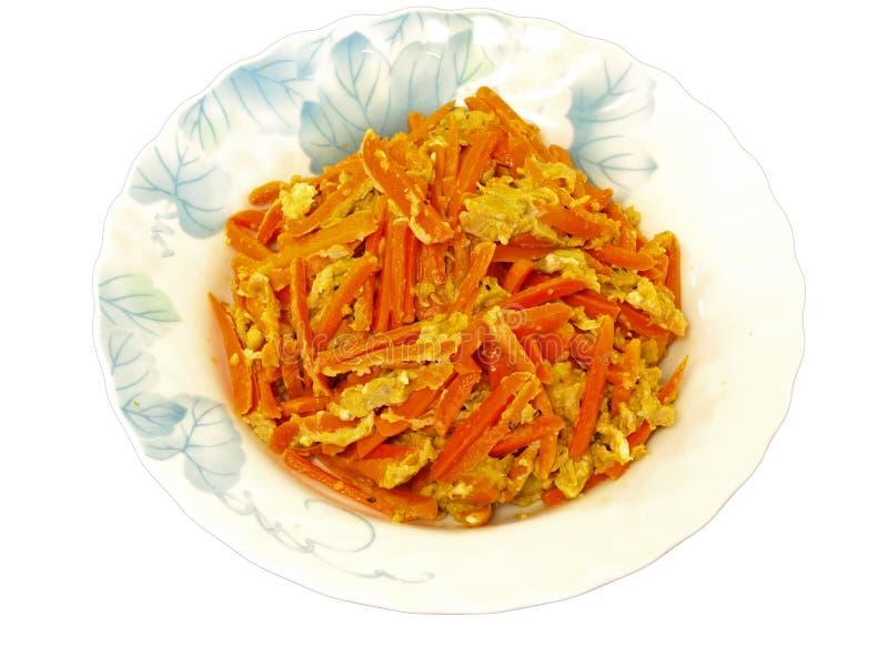 Carrot & Egg Stir-fry Stock Photo