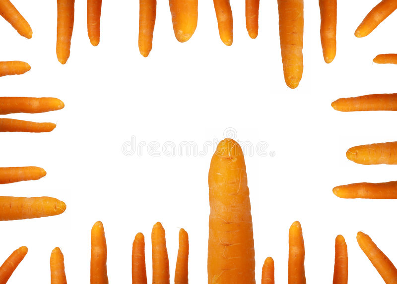 Carrot frame royalty free stock image