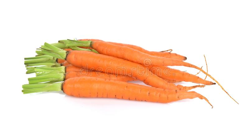 Carrot isolated on white background.  stock photo