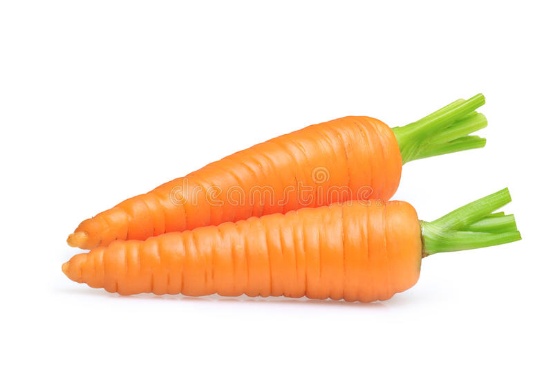 Carrot isolated on white royalty free stock photos