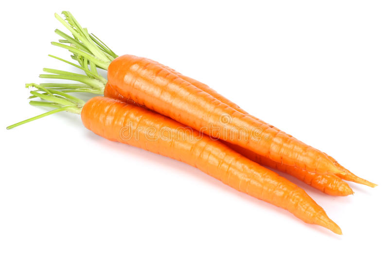 Carrot isolated on white background close up.  stock image