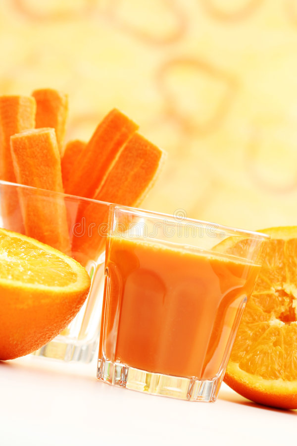 Carrot juice stock photos