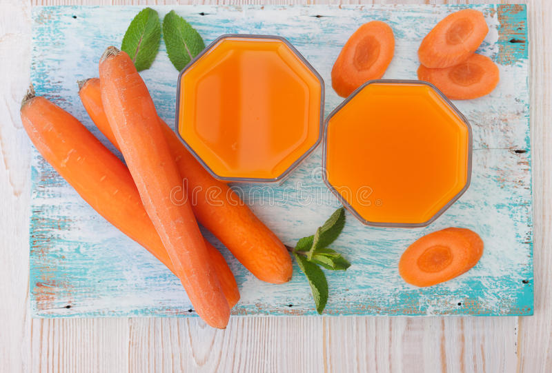 Carrot Juice and vegetables stock photos