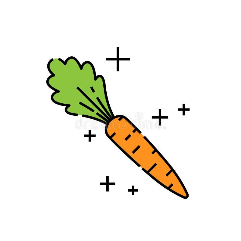 Carrot line icon vector illustration