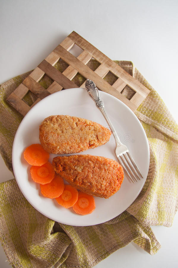 Carrot pancakes royalty free stock images