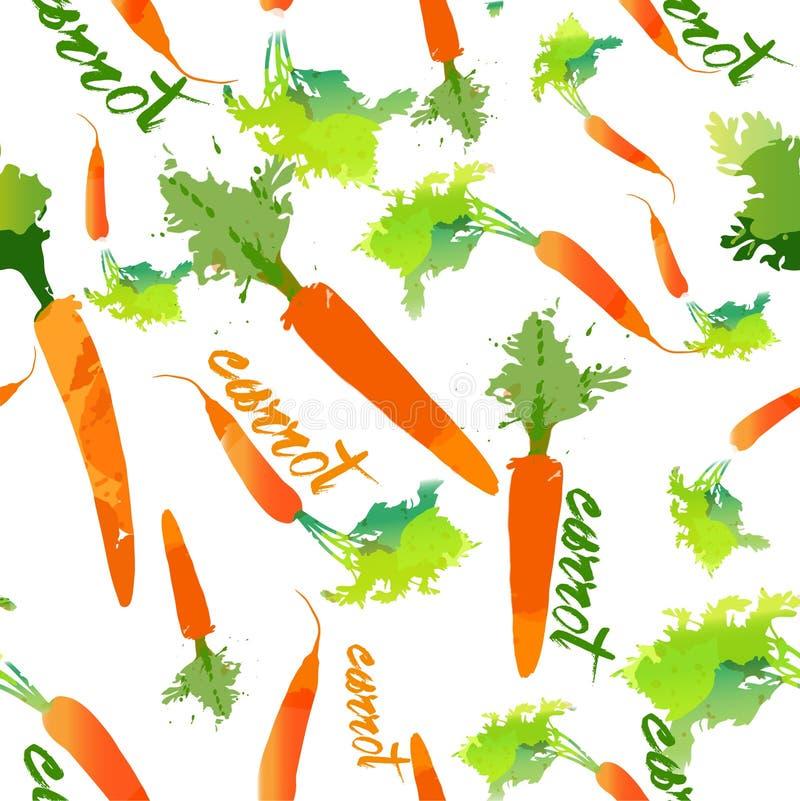 Carrot pattern happy pattern eco life. Health vector illustration