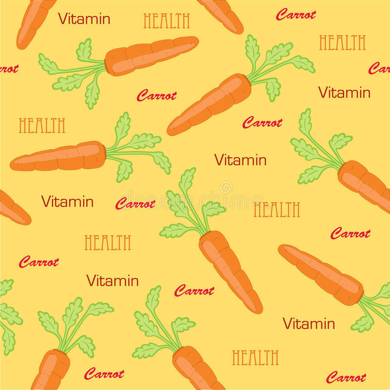 Carrot seamless vector illustration