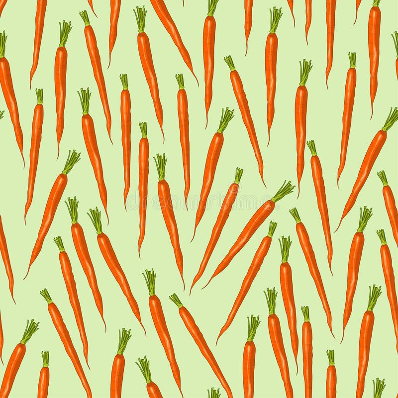 Carrot seamless pattern. Retro inspired vector illustration. royalty free illustration