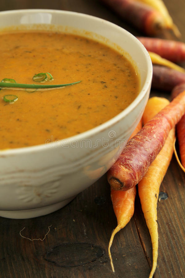 Download Carrot soup stock image. Image of vegetable, healthy - 27750205