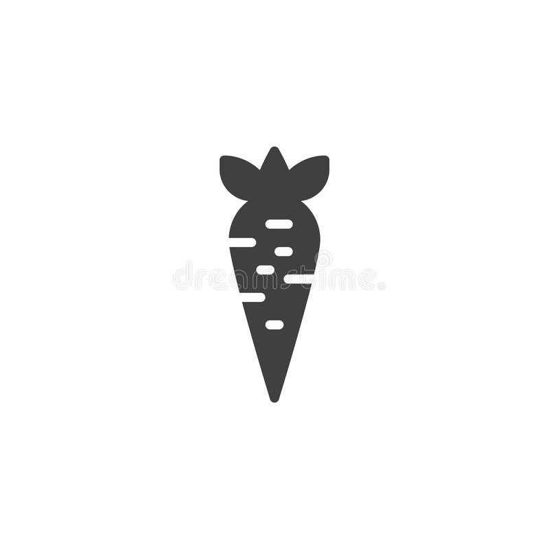 Carrot vegetable vector icon royalty free illustration