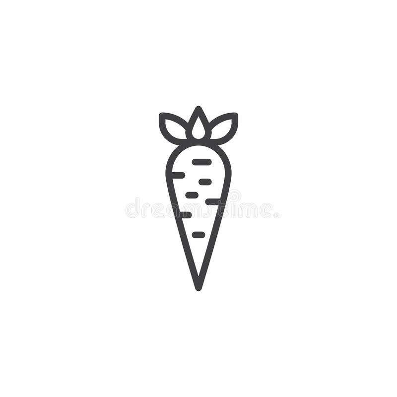 Carrot vegetable outline icon royalty free illustration
