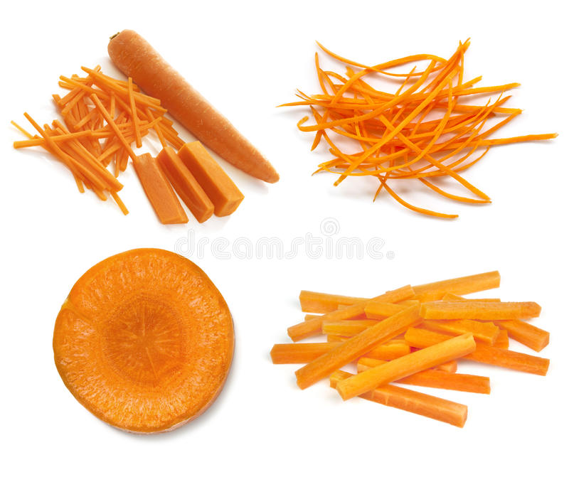 Carrots Collection Isolated on White royalty free stock images