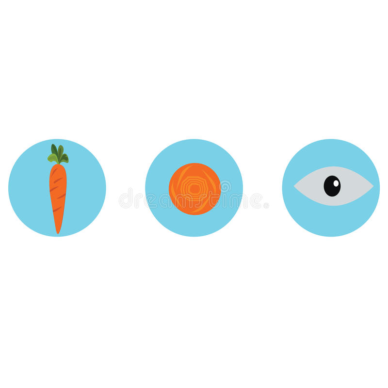 Carrots for eye health. Carrot vector. stock photography