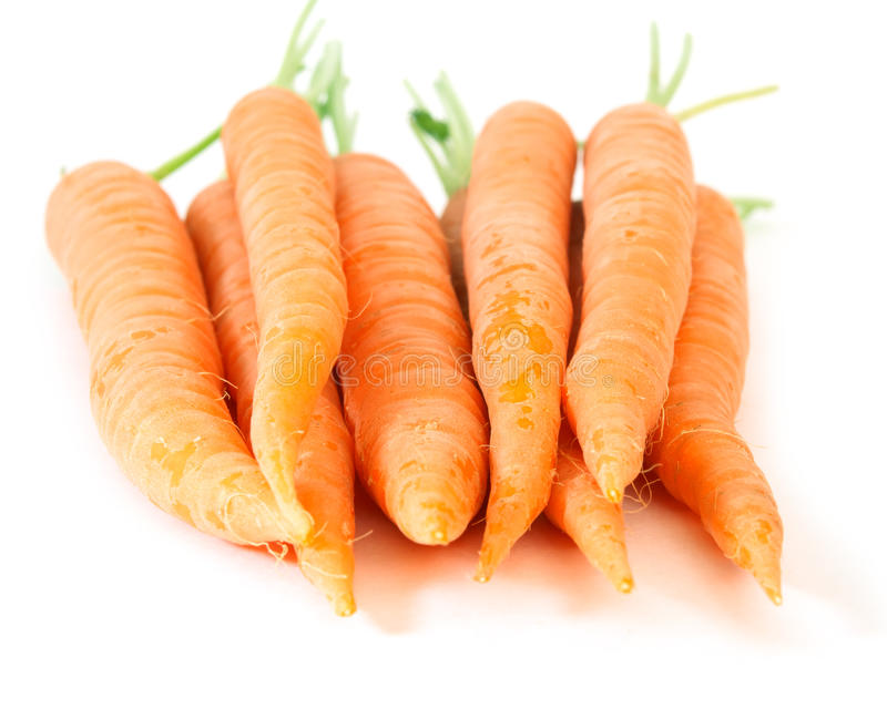 Carrots isolated on white background royalty free stock photography