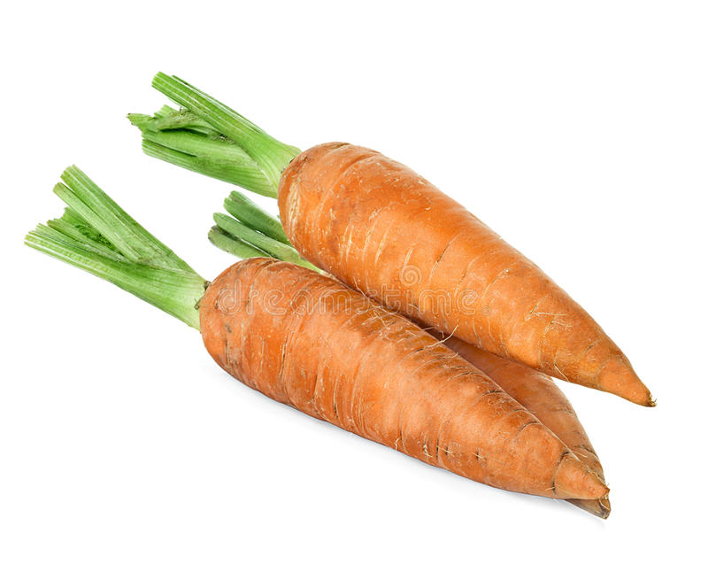 Carrots isolated on white royalty free stock image