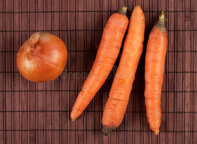Carrots and onion stock photos
