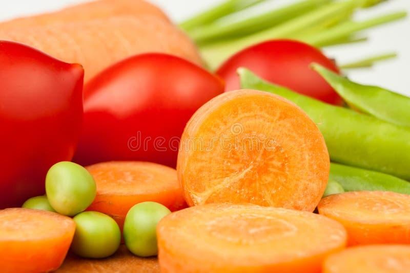 Carrots Peas Tomatoes Royalty Free Stock Photo