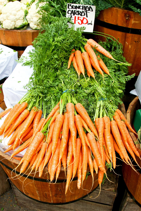 Carrots for sale in market