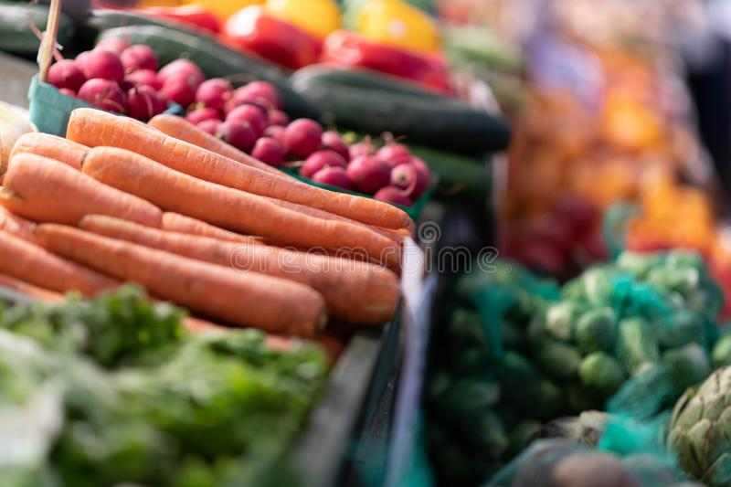 Carrots for sale at the market royalty free stock images
