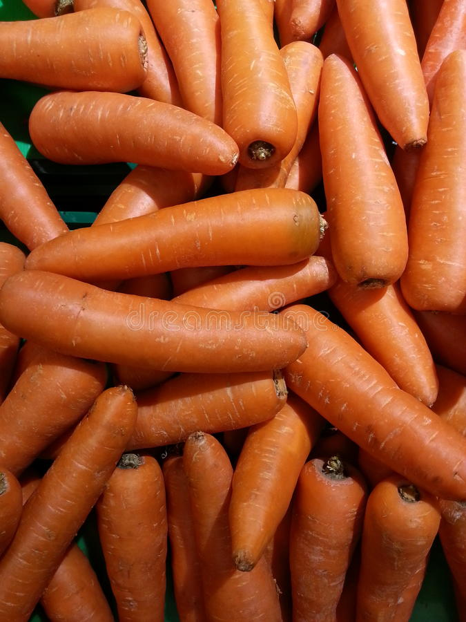 Carrots on shelf royalty free stock images