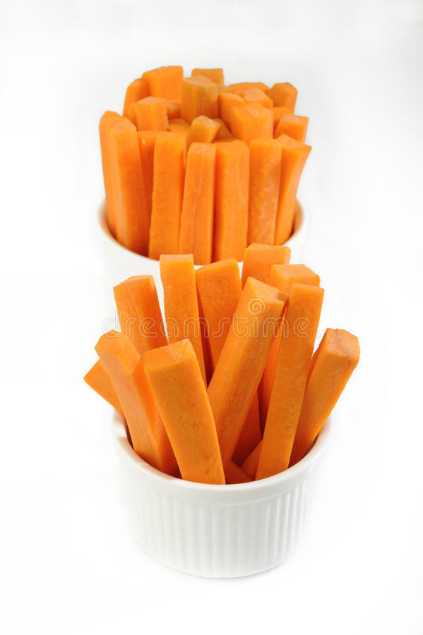 Carrots sticks in bowl royalty free stock photo