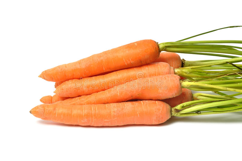Carrots on White. Fresh red carrots on white background