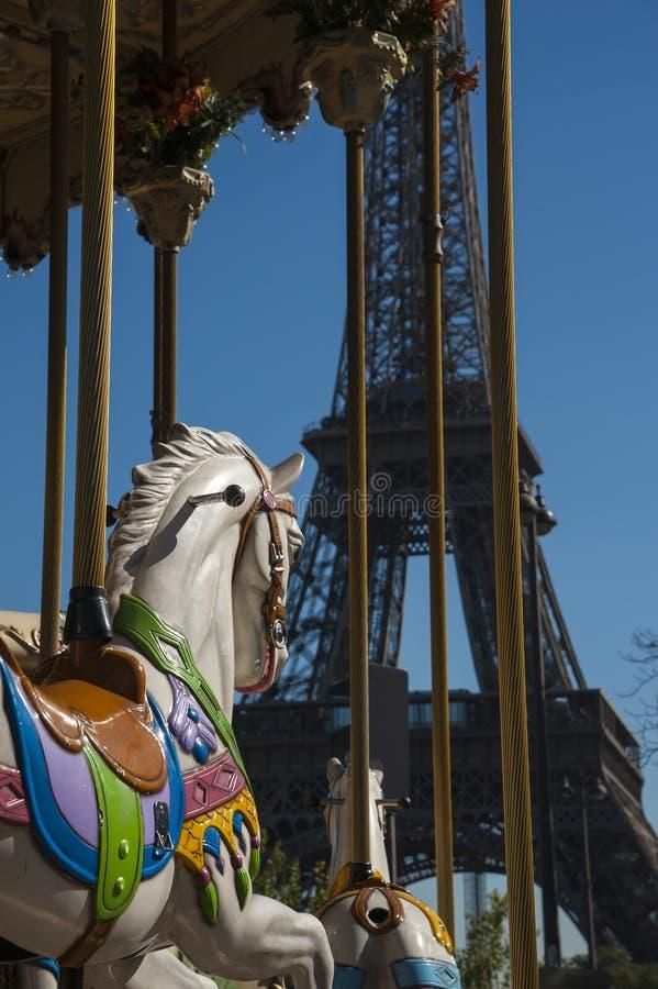 Carrousel à Paris image libre de droits