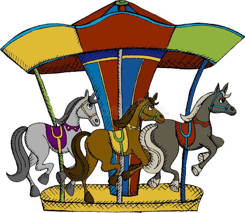 Carrousel stock illustratie