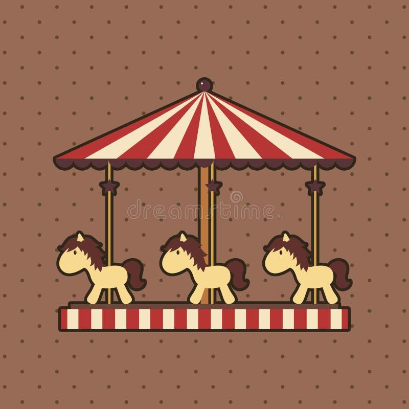Carrousel illustration de vecteur