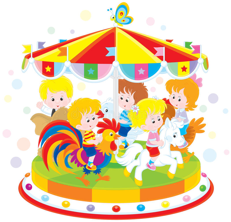 carrousel royalty-vrije illustratie