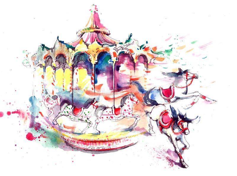 Carrousel vector illustratie