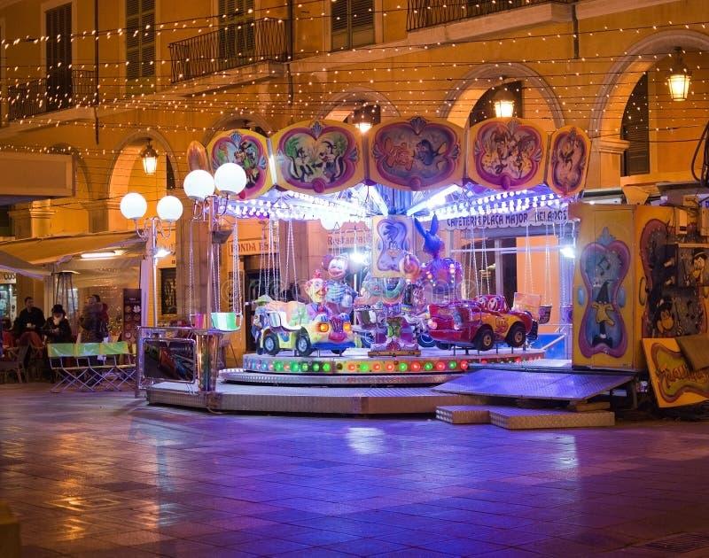Carrousel au maire de plaza images stock
