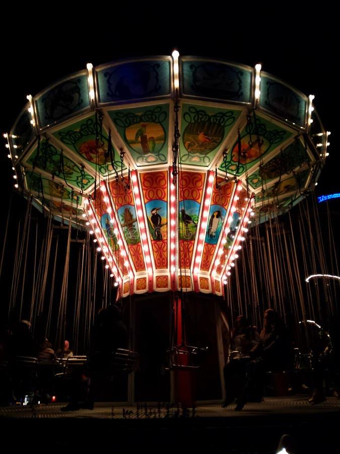Carrousel au parc d'attractions de Linnanmaki photos libres de droits