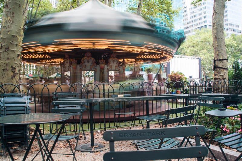 Carrousel de Bryant Park photos libres de droits
