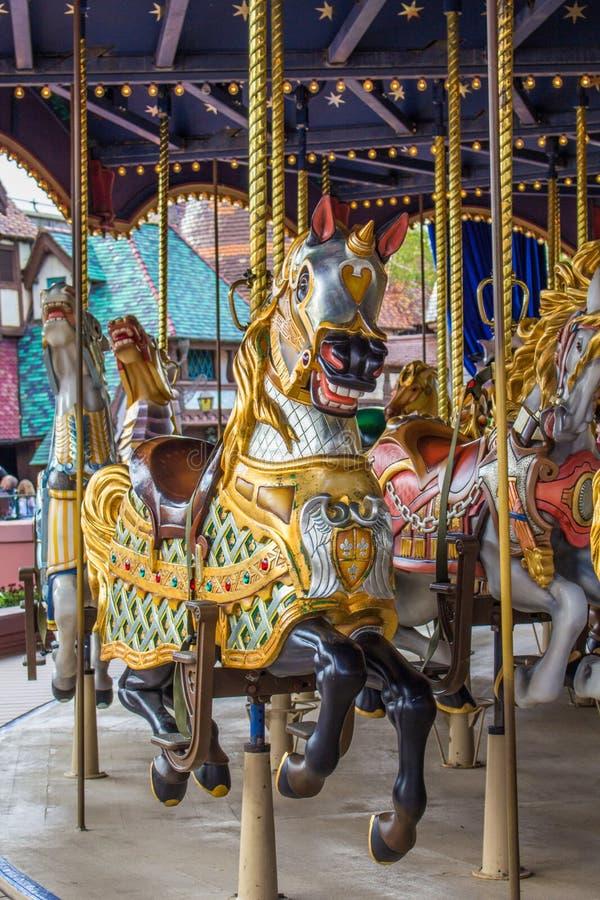 Carrousel de Lancelot dans Disneyland photographie stock libre de droits