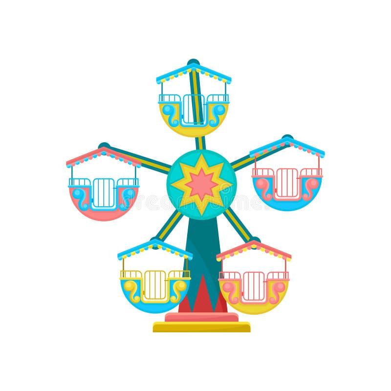 Carrousel, de vectorillustratie van het pretparkelement op een witte achtergrond royalty-vrije illustratie