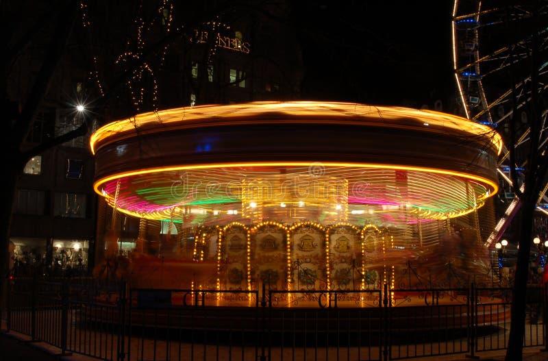 Carrousel in Edinburgh stock afbeelding