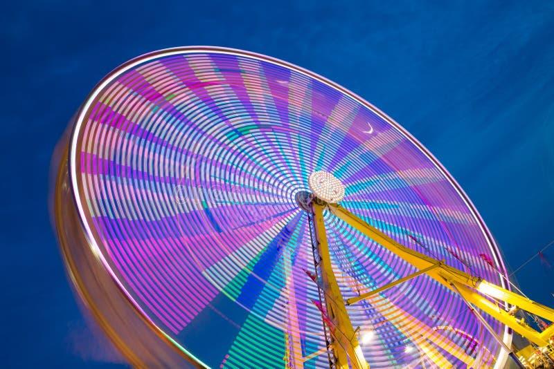 Carrousel en hemel royalty-vrije stock afbeelding