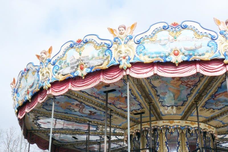 Carrousel en parc de Gorki photos libres de droits