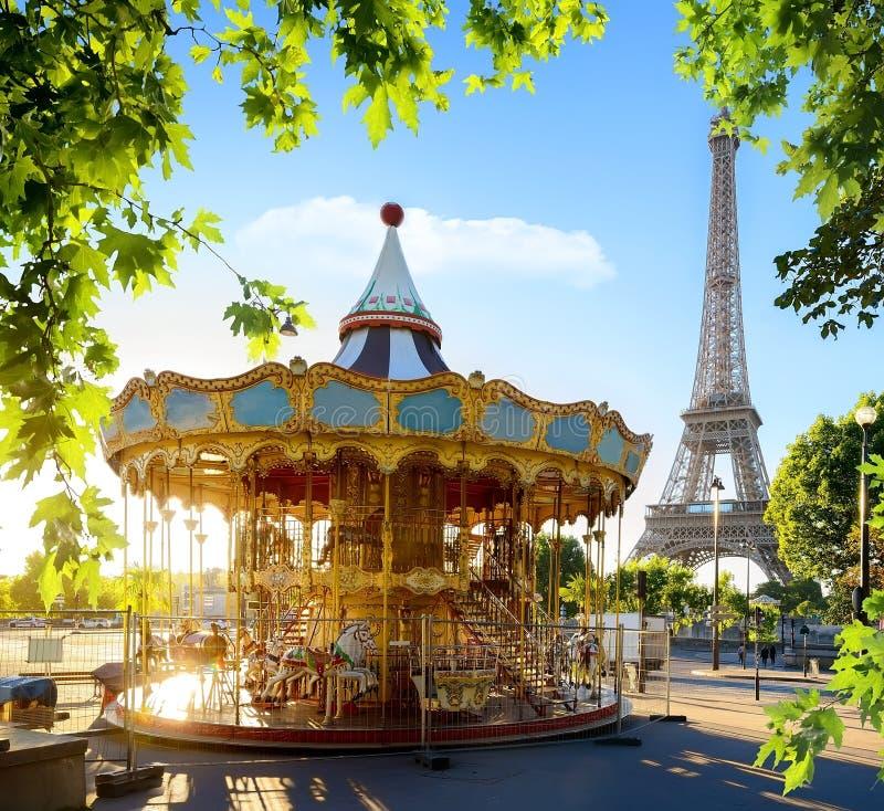 Carrousel in Frankrijk stock afbeelding