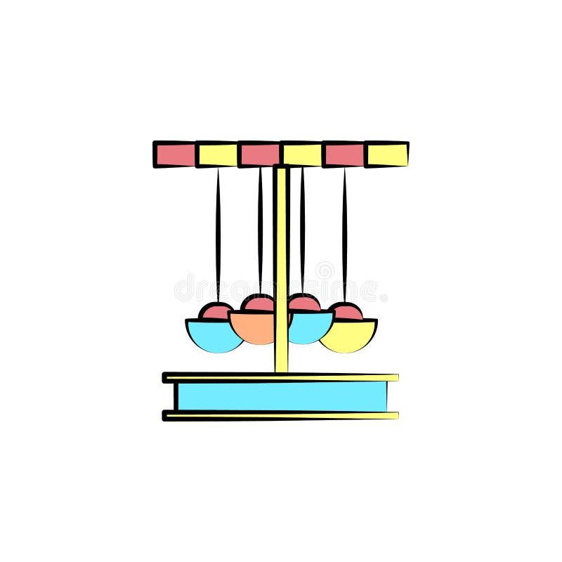 carrousel gekleurd pictogram Element van gekleurd circuspictogram voor mobiel concept en Web apps Het pictogram van de kleurencar vector illustratie