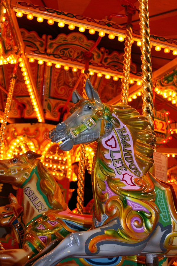 Free Carrousel Horse At Fairground Royalty Free Stock Photos - 6849688