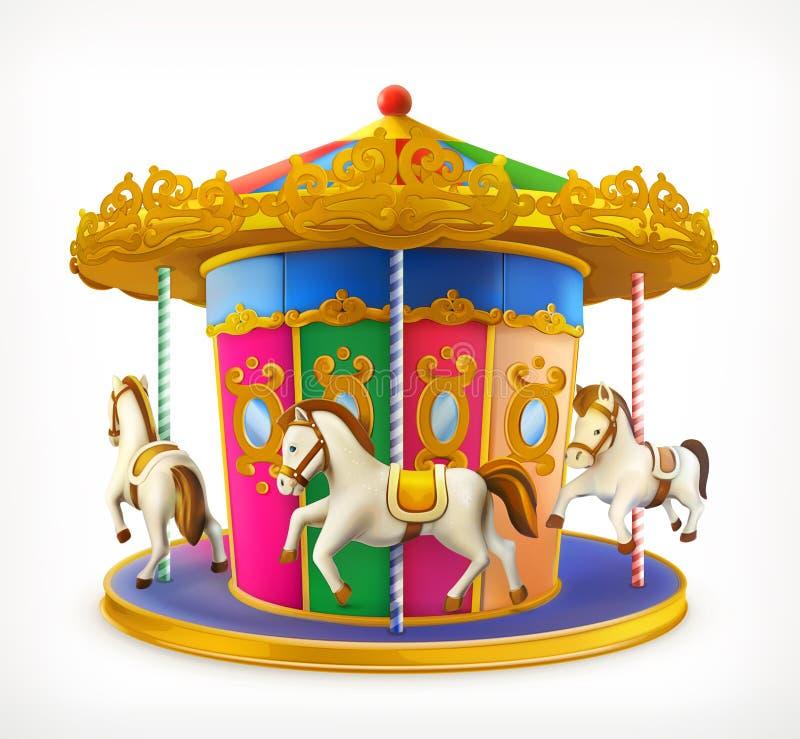 Carrousel, icône de vecteur illustration libre de droits
