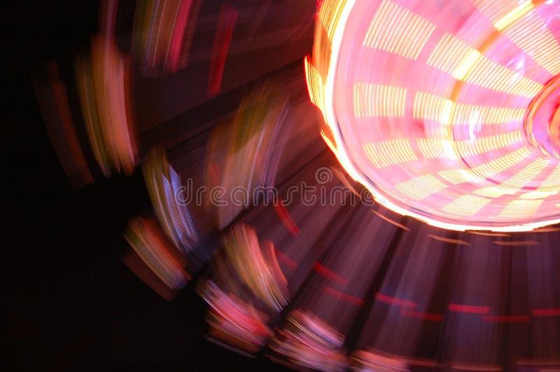Carrousel la nuit image libre de droits